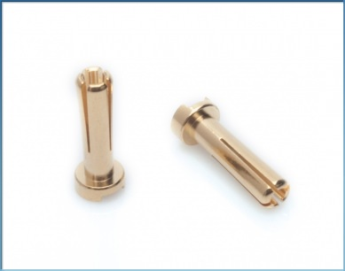 65815 LRP 4mm Gold Works Team connectors (10 pcs.)