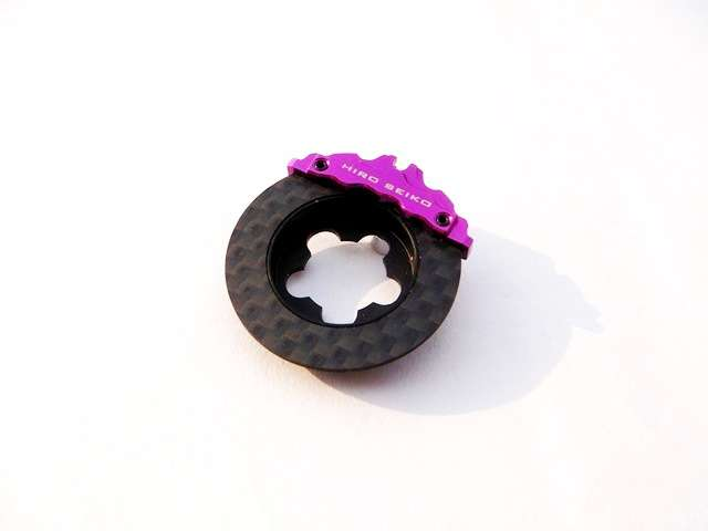 69967 Hiro-Seiko Carbon Fiber Brake Disc per volantino (Purple)
