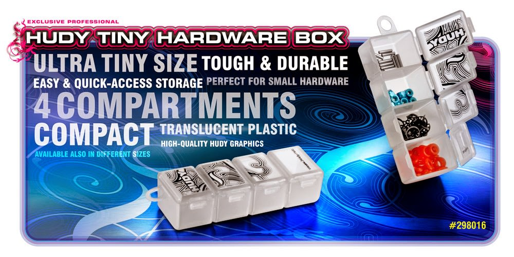 298016 HUDY Tiny Hardware Box - 4-Compartments