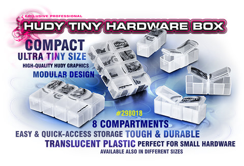 298018 HUDY Tiny Hardware Box - 8-Compartments