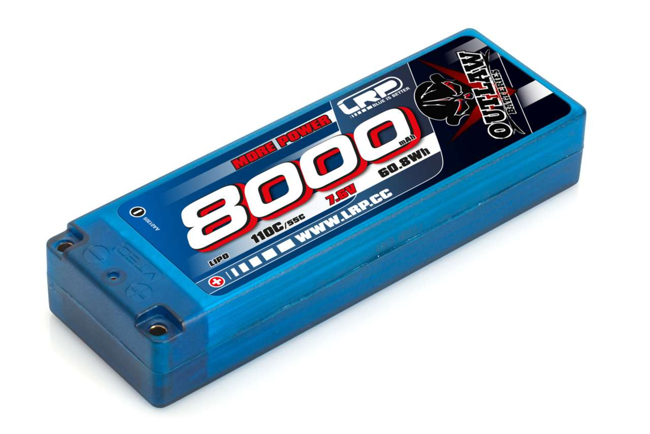 430230 LRP 8000 Stickpack 110C/55C 7.6V LiPo 1/10 Outlaw Car Line Hardcase