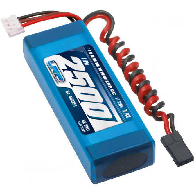 430351 LRP LiPo 2500 RX-Pack 2/3A Straight 7.4V
