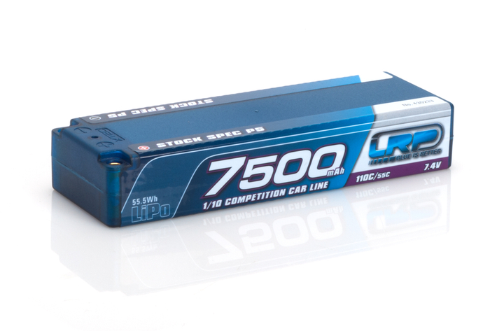 430233 LRP 7500 - TC Stock Spec P5 - 110C/55C - 7.4V LiPo - 1/10 Competition Car Line Hardcase