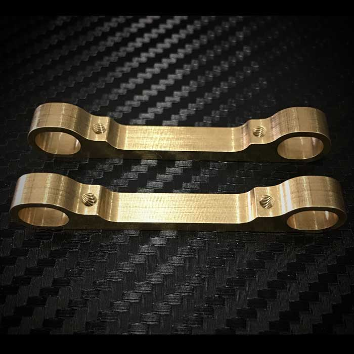 FR31618BR Fast Race Brass Outer Arm Mount Associated TC7 (2)