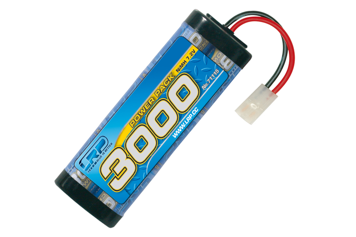 71115 LRP Power Pack 3000 - 7.2V - 6-cell - Tamiya/JST plug - NiMH Stickpack