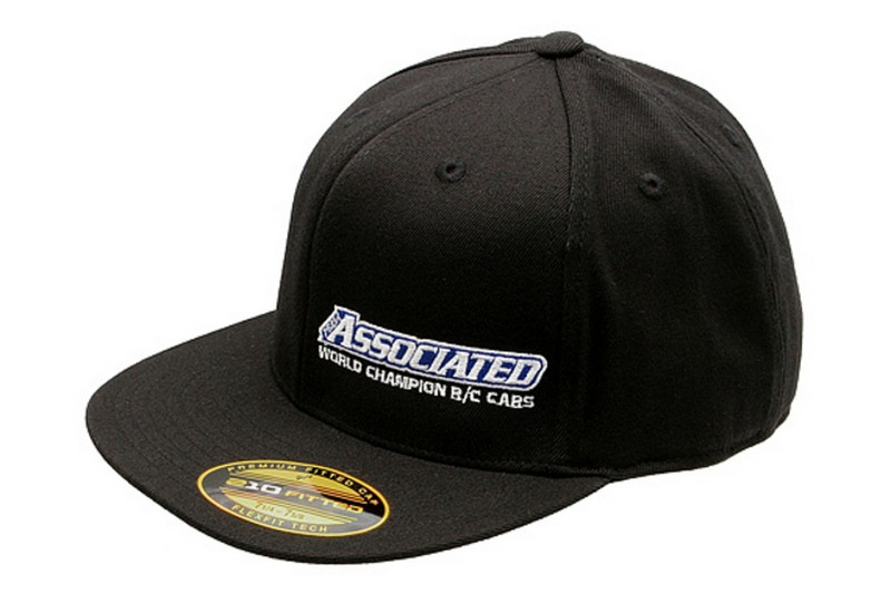 AESP421L Team Associated 2012 Hat, Black, flat bill, L/XL cappellino taglia L XL
