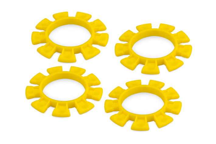 J8115 Jconcepts DIRT BANDS - TIRE GLUING RUBBER BANDS - YELLOW (FITS – 1/10TH, SCT AND 1/8TH BUGGY TIRES)
