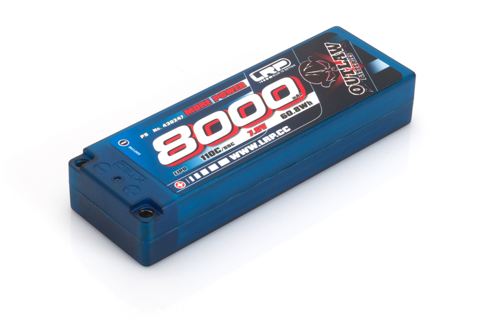 430247 LRP 8000 - STICKPACK P5 - 110C/55C - 7.6V LIPO - 1/10 OUTLAW CAR LINE HARDCASE