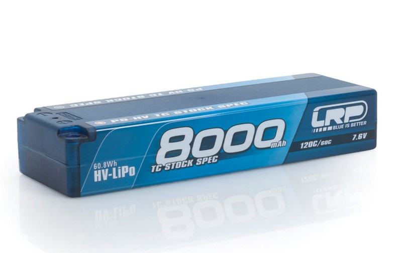 430250 LRP P5-HV TC STOCK SPEC GRAPHENE 8000MAH HARDCASE BATTERY - 7.6V LIPO - 120C/60C