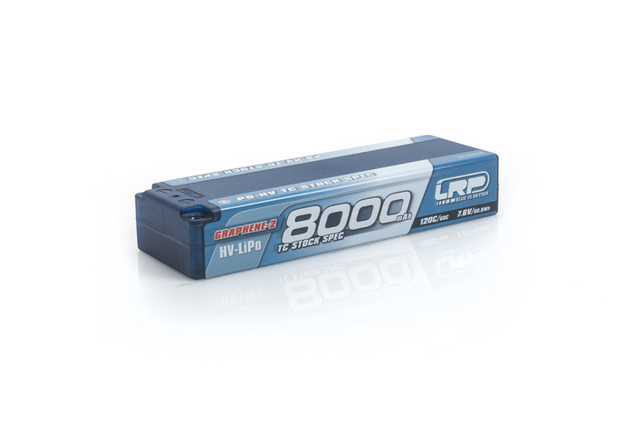 430260 LRP P5-HV TC STOCK SPEC GRAPHENE-2 8000MAH HARDCASE BATTERY - 7.6V LIPO - 120C/60C