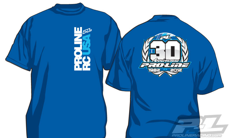 9801-02 Pro-Line 30th Anniversary Blue T-Shirt (M)