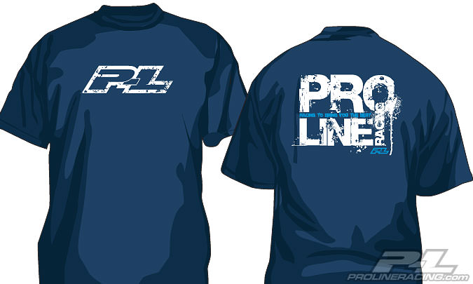 9974-01 Pro-Line Stamped T-Shirt Blue (S)