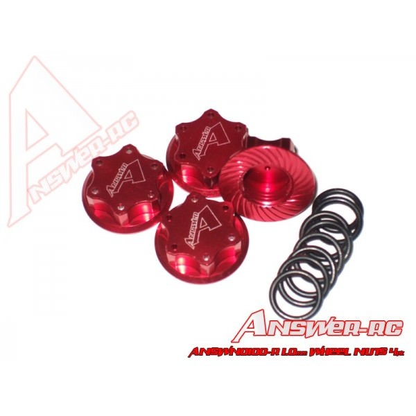ANSWN0100-R Answer Dadi Ruota alleggeriti 1.0 mm RED (4)