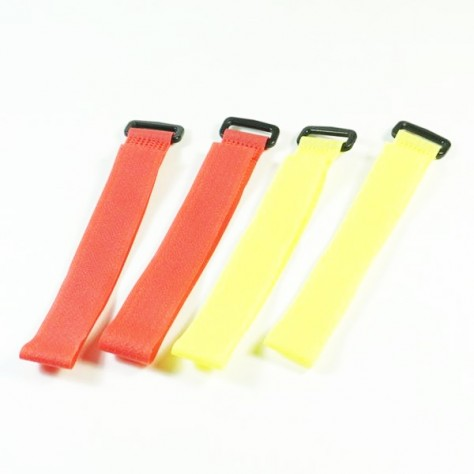 SW-540001A SWORKZ Hook & Loop strap 2x22.5cm(4pc) red yellow