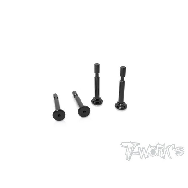TO-198-MBX8 T-WORKS 7075-T6 Hard Coated Lower Shock Mount Pins ( For Mugen MBX8 / MBX8 ECO) 4pcs.