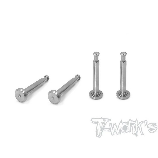 TP-095 T-WORKS 64 Titanium Lower Shock Mount Pins ( For Team Associated RC8 B3.1 ) 4pcs.