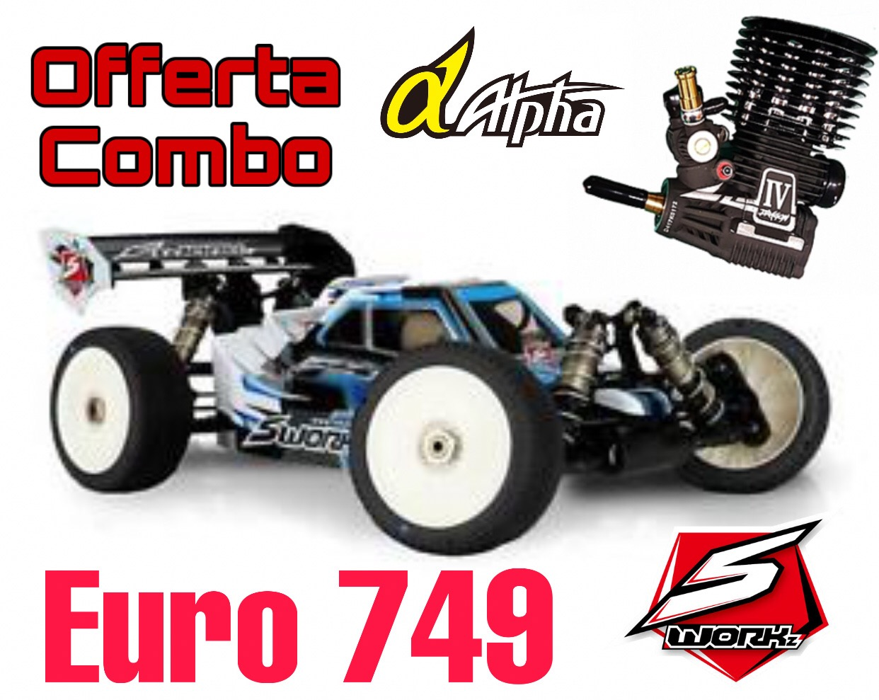COMBO SWORKz S35-3 1/8 Pro Nitro Buggy Kit + Apha Dragon IV