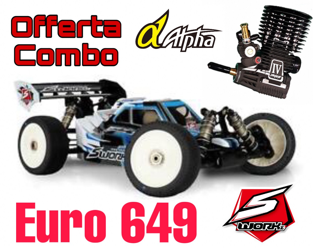 COMBO SWORKz S35-3 1/8 Pro Nitro Buggy Kit + Apha Dragon III
