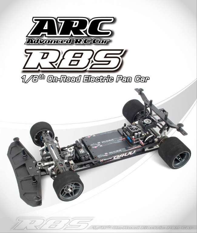 R800011 ARC R8S 1/8th Electric Power Stock Class Pan Car Kit