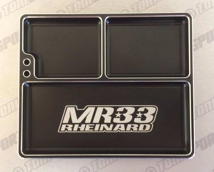 MR33-LAPT MR33 Luxury Aluminum Part Tray - Black