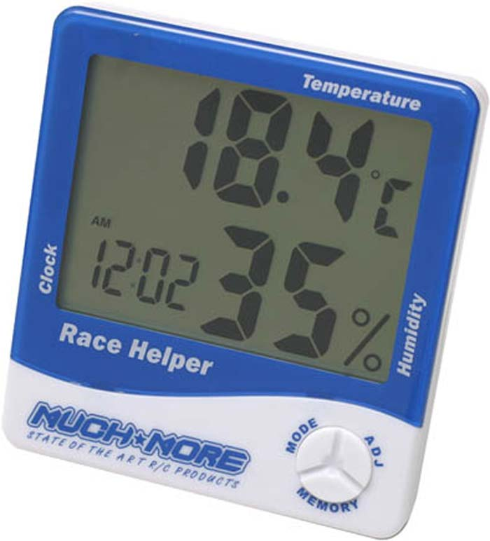 Race Helper Clock/Temp/Humidity by Muchmore Racing