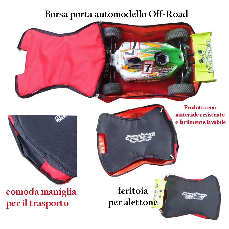 Borsa porta automodello Off-Road Giallo/